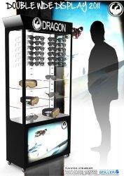 Caisson lumineux en métal pour lunettes de soleil DRAGON