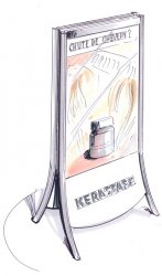 Chevalet en métal pour produits capillaires Kerastase
