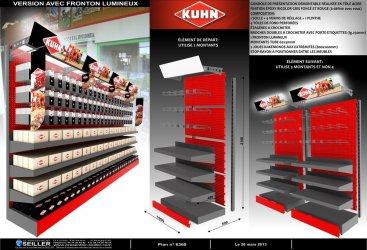 Gondole en métal pour magasin de bricolage Kuhn