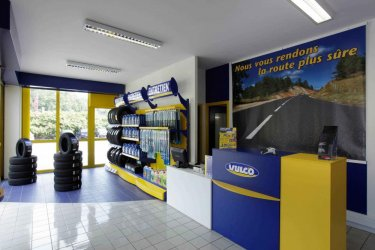 Présentoir accessoires auto moto pour Pneus Vulco