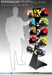 Présentoir accessoires auto moto pour casques CHAMARO