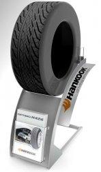 Présentoir accessoires auto moto pour pneu HANKOOK