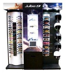 Présentoir lunettes shop in shop en métal et plastique Julbo