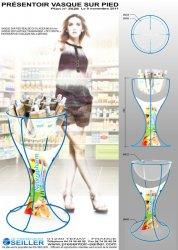 Présentoir santé en métal pour produits cosmétique GROUPE BATTEUR LABO GILBERT