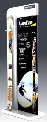 Présentoir sport loisir nature en métal et plastique pour ski SKIMIUM