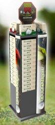 Présentoir sport loisir nature en métal pour balles de golf DIXON GOLF