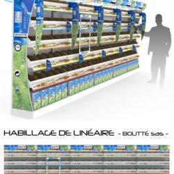 Présentoir Seiller fabricant PLV : Bandeau PLV en plastique pour matériel de bricolage Boutté