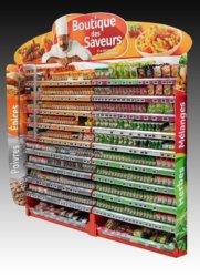 Présentoir Seiller fabricant PLV : Bandeau de rayonnage en plastique pour herbes et épices DUCROS