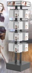 Présentoir Seiller fabricant PLV : Colonne de présentation en métal pour lingerie STEFFY LINGERIE KOOKAI