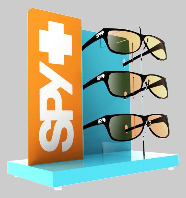 presentoir de lunettes solaire en m tal spy optic seiller. Black Bedroom Furniture Sets. Home Design Ideas