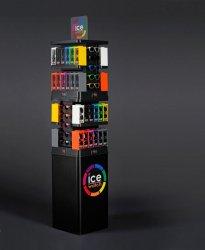 Presentoir de lunettes solaire en métal et plastique thermoformé LOGO ice watch