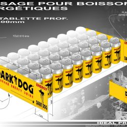 Stop rayon, pour boissons énergisantes Dark Dog