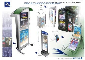 Stop trottoir en métal pour kiosque à journaux AAP