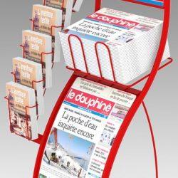 Support affiche en métal pour journaux Le Dauphiné