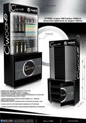 Vitrine PLV en métal pour cigarettes électroniques CIWOONE