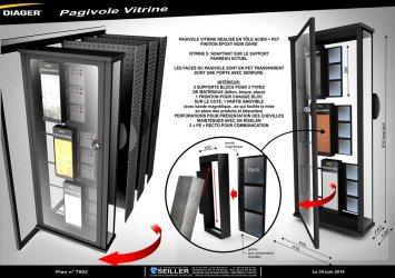 Vitrine de communication Pagivol en métal pour matériel de bricolage DIAGER