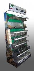 Vitrine de communication en métal et plastique pour accessoires de machines agricoles Agricarb