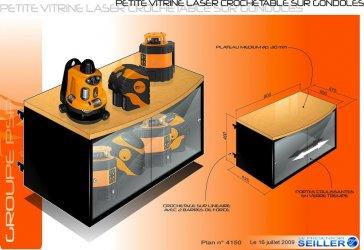 Vitrine de communication pour laser de mesure PSP Metland