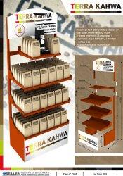 présentoi de sol en métal pour café TERRA KAHWA