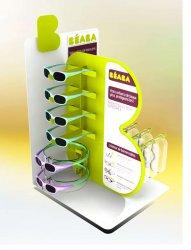 présentoir de comptoir en V et plastique pour lunettes solaires enfants BEABA