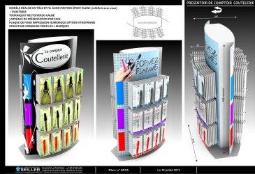 presentoir de comptoir en plastique pour matériels de pédicure OCEAN TERRE