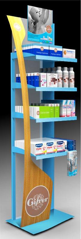 presentoir de sol en plastique pour produits pharmaceutiques coxinelis seiller. Black Bedroom Furniture Sets. Home Design Ideas