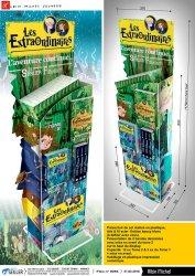 presentoir-pub-edition-carterie-en-metal-et-plastique-les-extrordinaires-Albin-michel