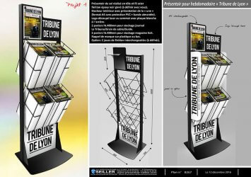 presentoir-pub-edition-carterie-en-metal-pour-hebdomadaires-La-tribune-de-Lyon
