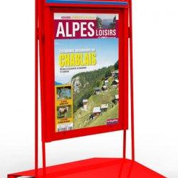 Chevalet-PLV-metal-journaux-Le-Dauphine
